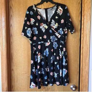 Asos Wrap Front Floral Dress